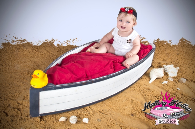 Bub in boat -baby photography by Mallory Holley, Melbourne Photographer