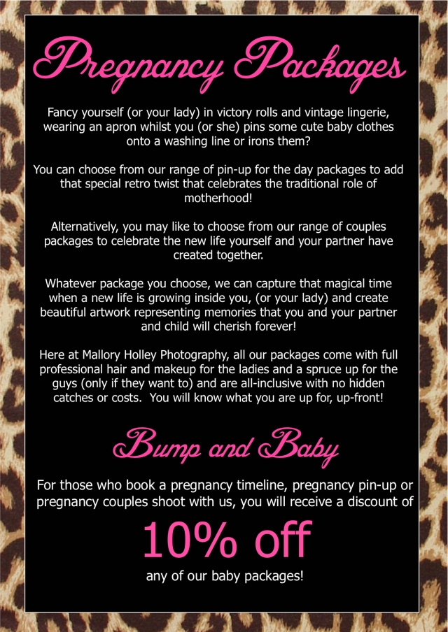 Pregnancy Packages page 1