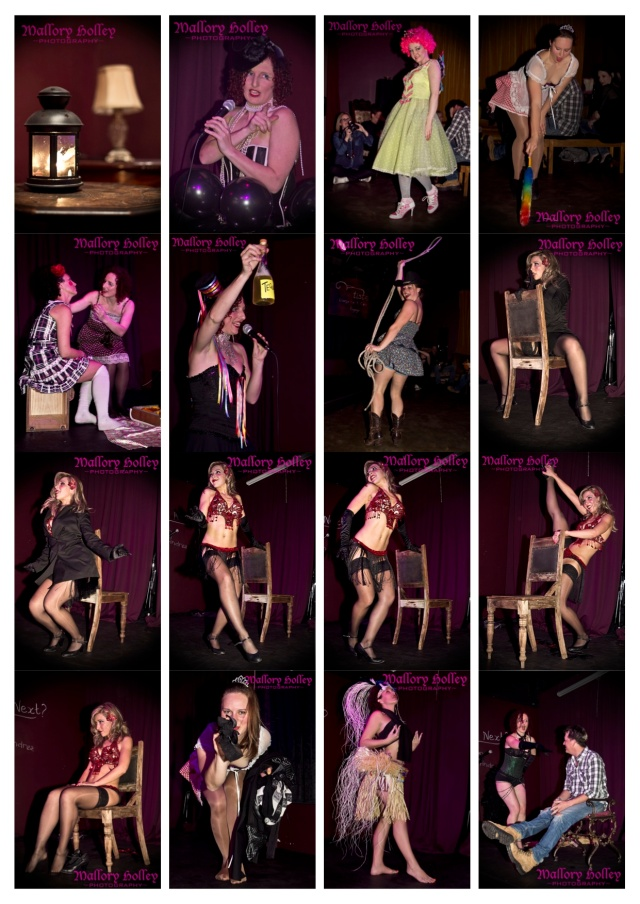 Burlesque performance at Bartiste event photography copyright Mallory Holley
