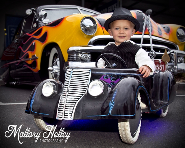 December Lets Go Cruisin' cute little boy in roadster 2013