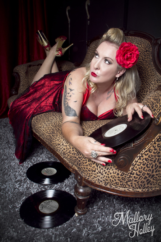Mallory Holley Photography victorian leipard lounge pinup