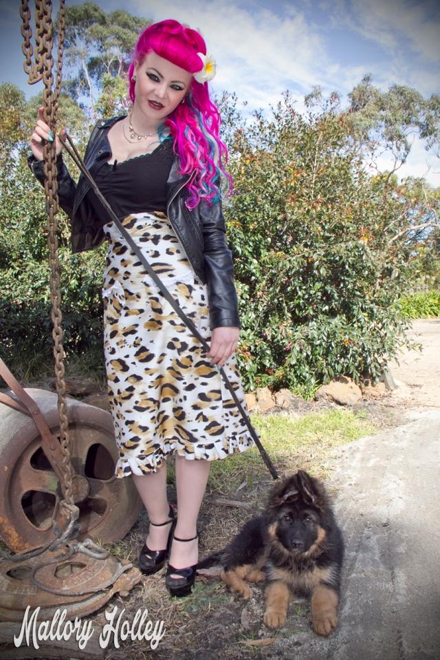 Dress Me Gorgeous Pinup Dress Review German Shepherd Puppy_0114