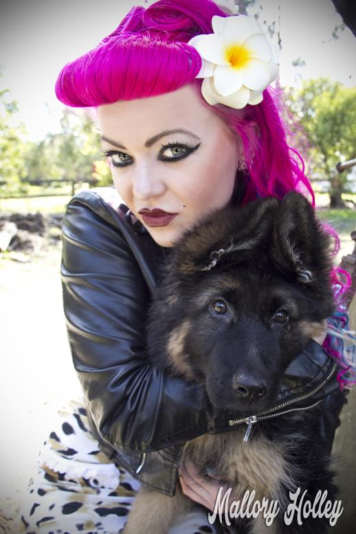 Dress Me Gorgeous Pinup Dress Review German Shepherd Puppy_0165.