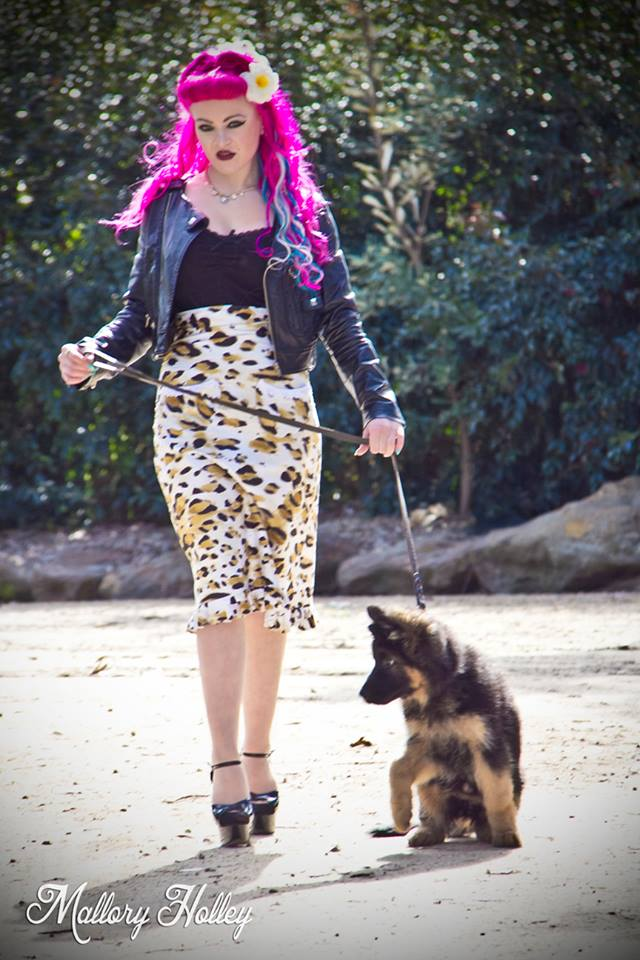 Mallory Holley Dress Me Unique Leopard Pinup Pencil Skirt