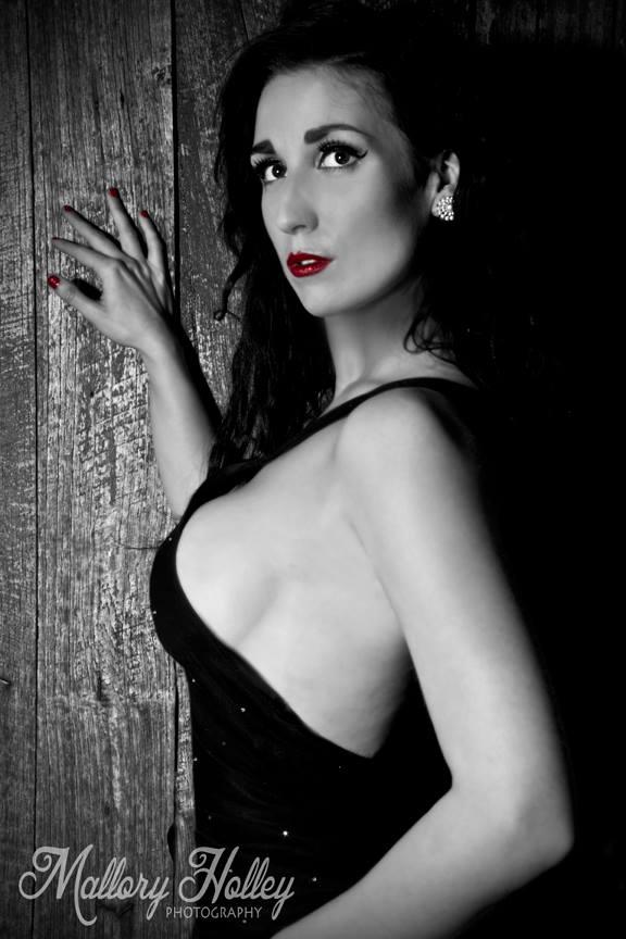 Film Noir Femme Fatale portrait Mallory Holley Studios