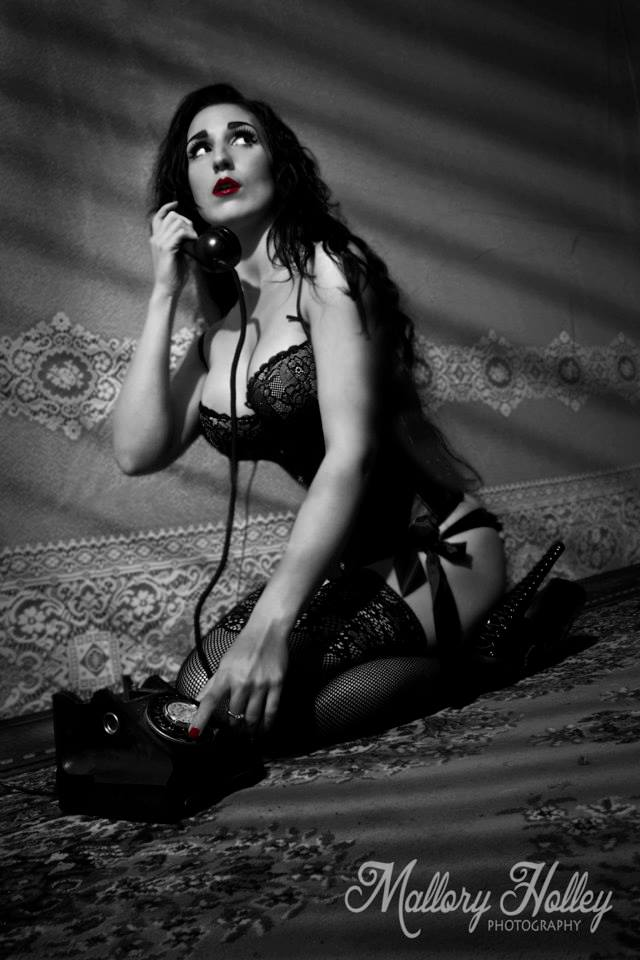 Mallory Holley Studios Film Noir Photoshoot Femme Fatale