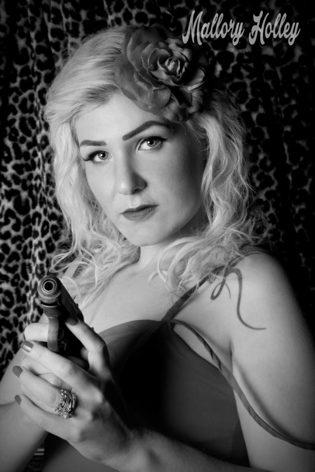 Mallory Holley film noir femme fatale pistol gun_1708