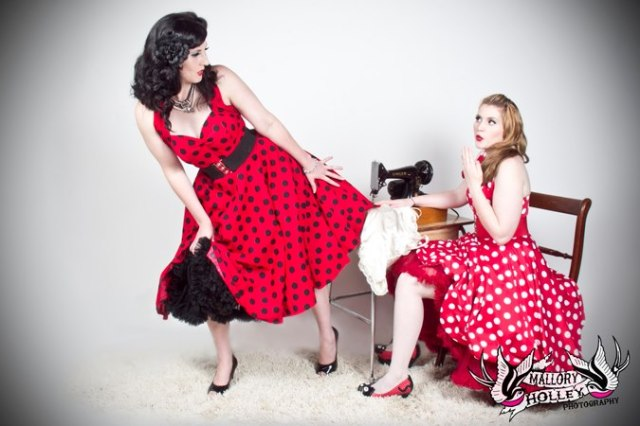 Mallory Holley Studios besties pinup shoot