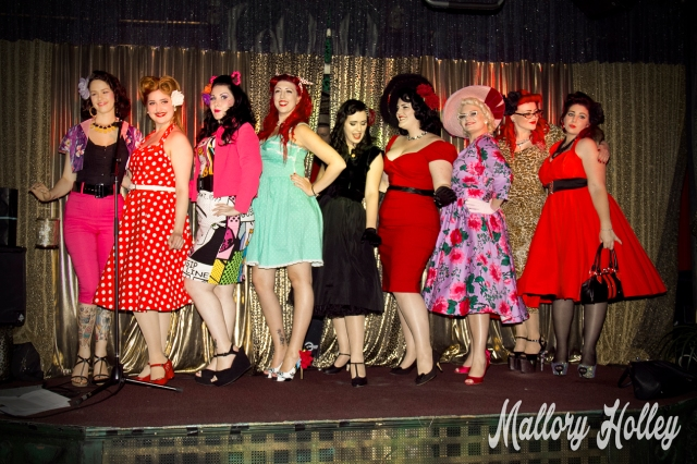 The pinup competition entrants