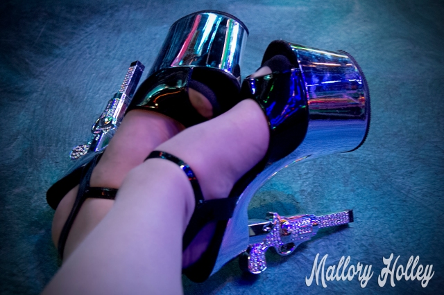 My pretty revolver heels from Shoe Me Gorgeous