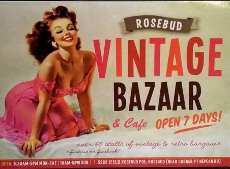 Rosebud VIntage Bazaar & Cafe -Mornington Peninsula