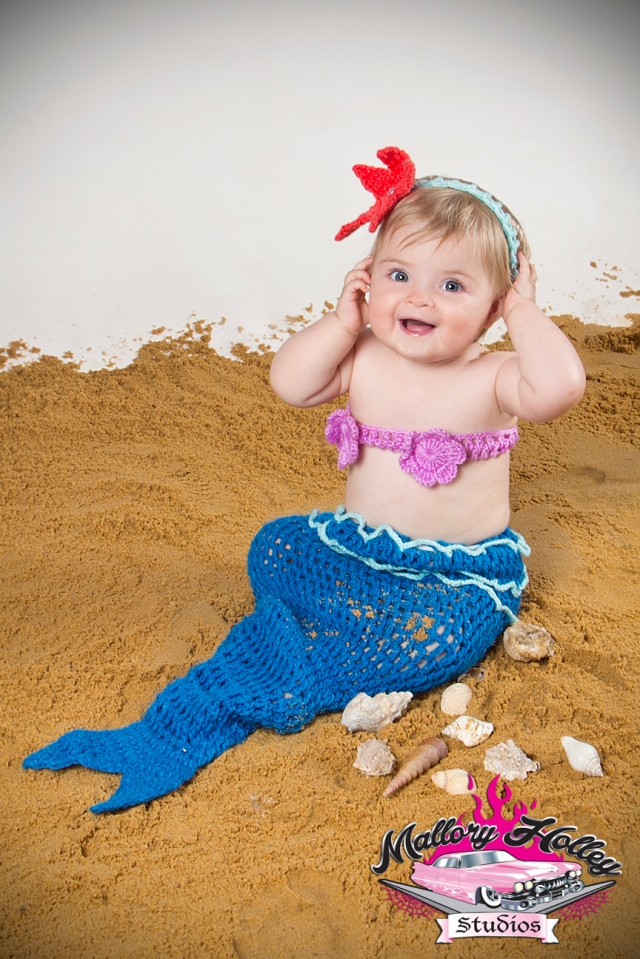 Baby photography -little mermaid theme by Mallory Holley Studios, Melbourne