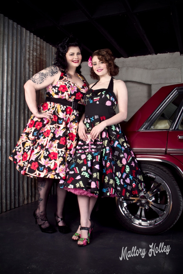 Mother and daughter photo shoot with Holden WB Statesman