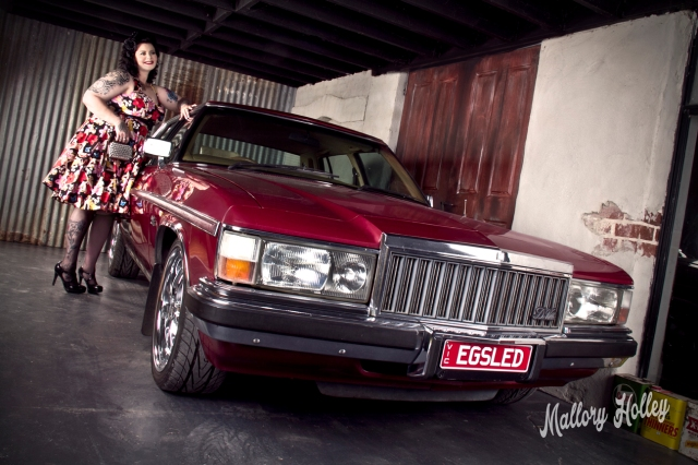 Pinup Photoshoot with Holden WB Statesman