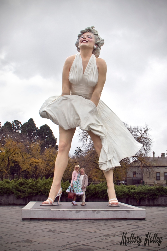 Oma and I with Forever Marilyn, Bendigo