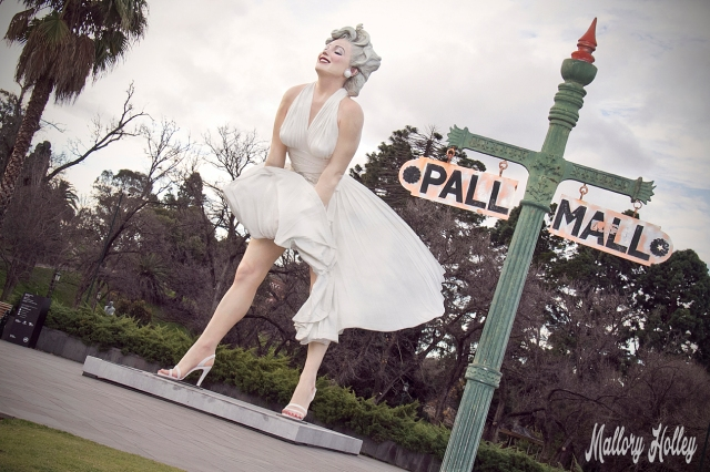 Forever Marilyn with Pall Mall sign