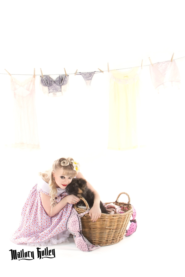 Pinup & Puppy Photo Shoot