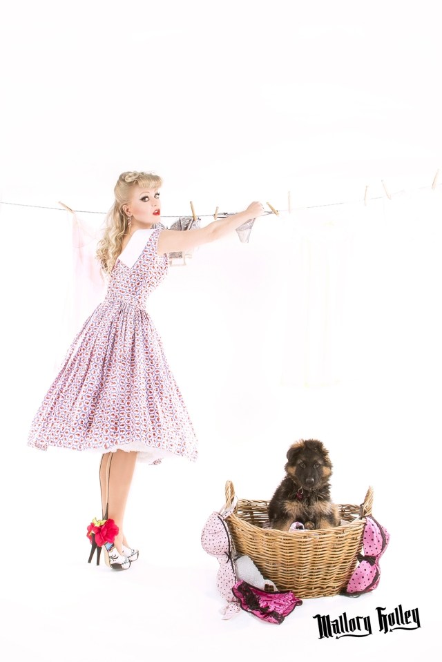 Pinup, Puppy & Washing Line