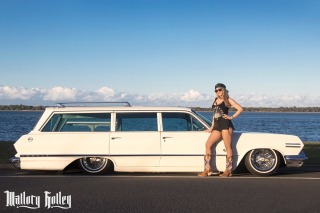 12 Mallory Holley and 1963 Chevrolet Impala Wagon